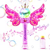 Happara Bubble Machine 1000 Bubbles Per Minute, Automatic Bubble Blower with Detachable Wings & Bubble Solution, Musical…