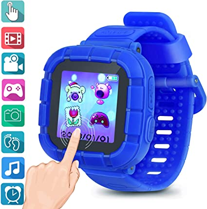 Watches For Kids Smart Watch Game Smartwatches Touch Screen Camera Recorder For Boys Girls Childrens Day Birthday Christmas Gifts(Blue)