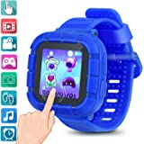 Kids smartwatch Game Watches Touch Screen Camera Video Recorder Watch for Boys Girls Children smartwatches Gifts (Blue)