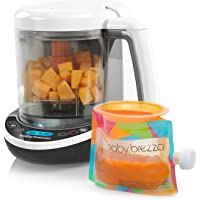 Baby Brezza Small Baby Food Maker Set – Cooker and Blender in One to Steam and Puree Baby Food for Pouches - Make…