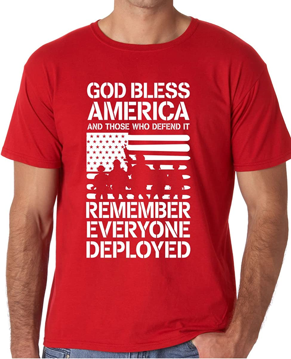 Little Boys Remember Everyone Deployed RED Flag Military T-Shirt