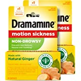Dramamine Motion Sickness Non-Drowsy, 18 Count, 2 Pack