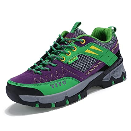 2017 Autumn Anti-slip Breathable Sport Walking Shoes Sneakers Couples Shoes Waterproof Boots 37-44 ( Color : Purple  Size : 44 )