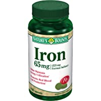Nature's Bounty Iron 65 Mg.(325 mg Ferrous Sulfate), 100 Tablets, (Pack of 2)