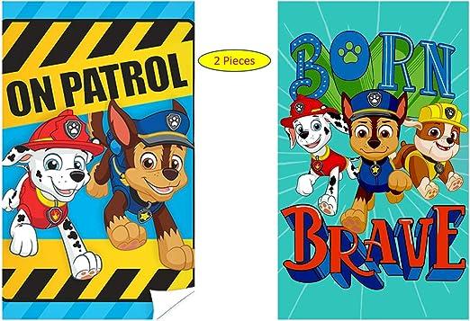PAW PATROL - Toalla de manos para niños, 100% algodón, regalo ...