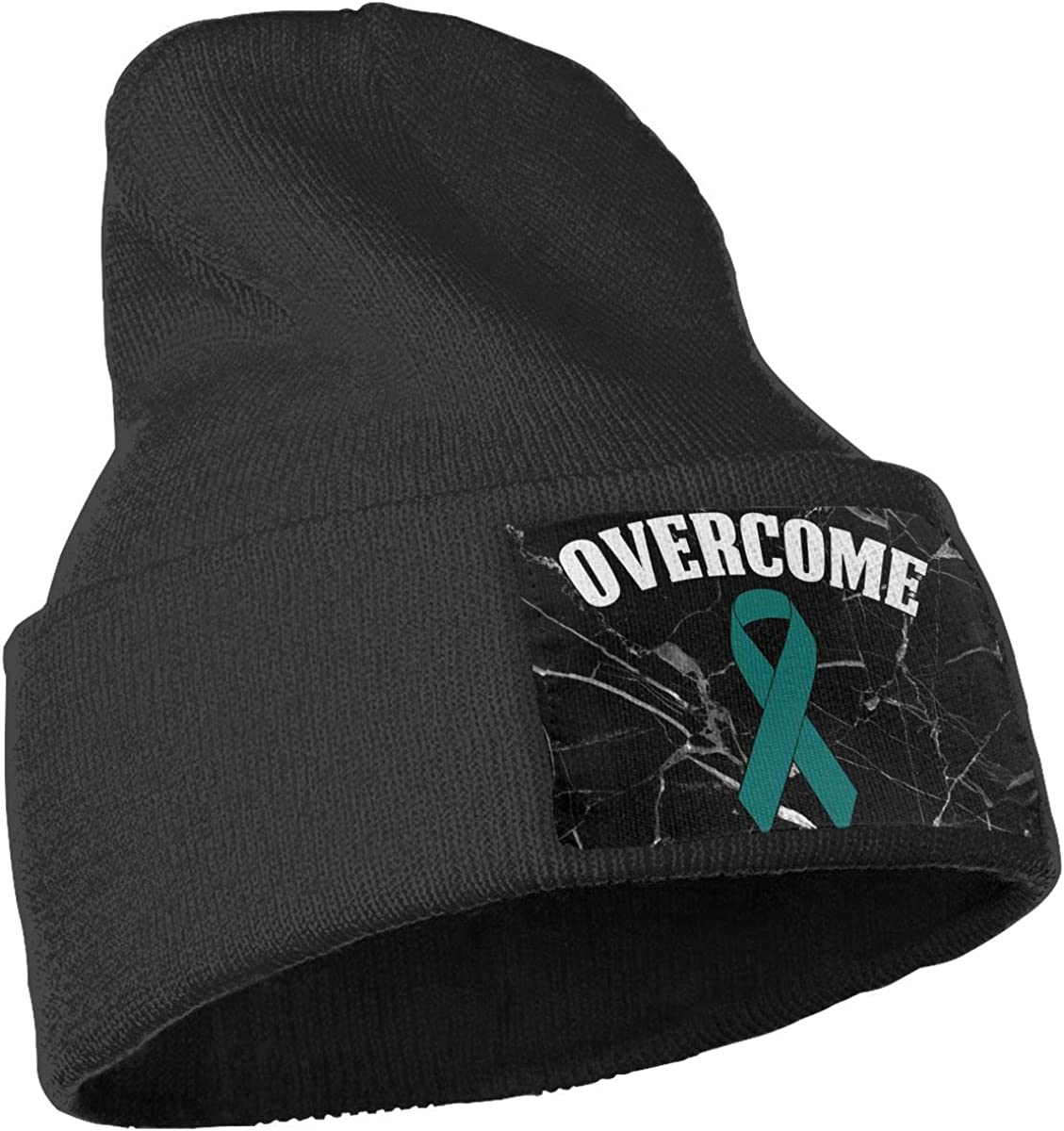 Overcome Ovarian Cancer Awareness Beanie Cap Hat Men Women Knitting Hats Stretchy /& Soft Beanie