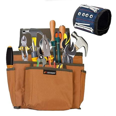 Amazon.com: Cinturón magnético para herramientas de cintura ...