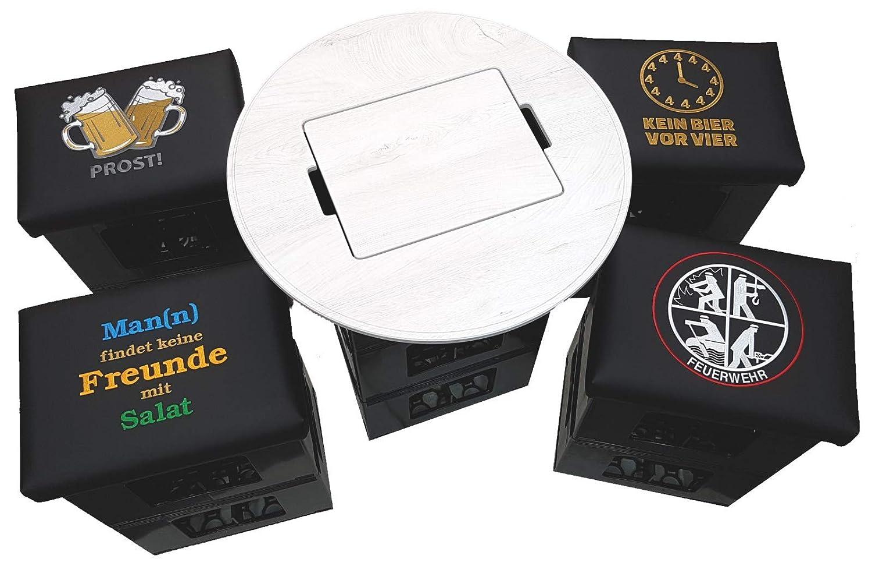 Premium Premium Premium Bierkastenaufsatz Bierkisten Aufsatz Bierkasten Tisch Stehtisch Tischaufsatz Fußball Bistrotisch Partytisch Bierkästen Fanartikel(Runde Form,Holzoptik ohne Spielfeld) 4412fd