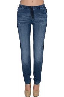 9edbce0aca221 Lee Damen Jeans Jogger - Relaxed Fit - Blau - Rocky Blue