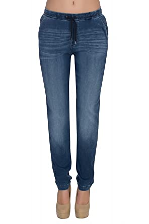 Lee Damen Jeans Sweatpants - Relaxed Fit - Blau - Rocky Blue, Größe ... d2a33cef2e
