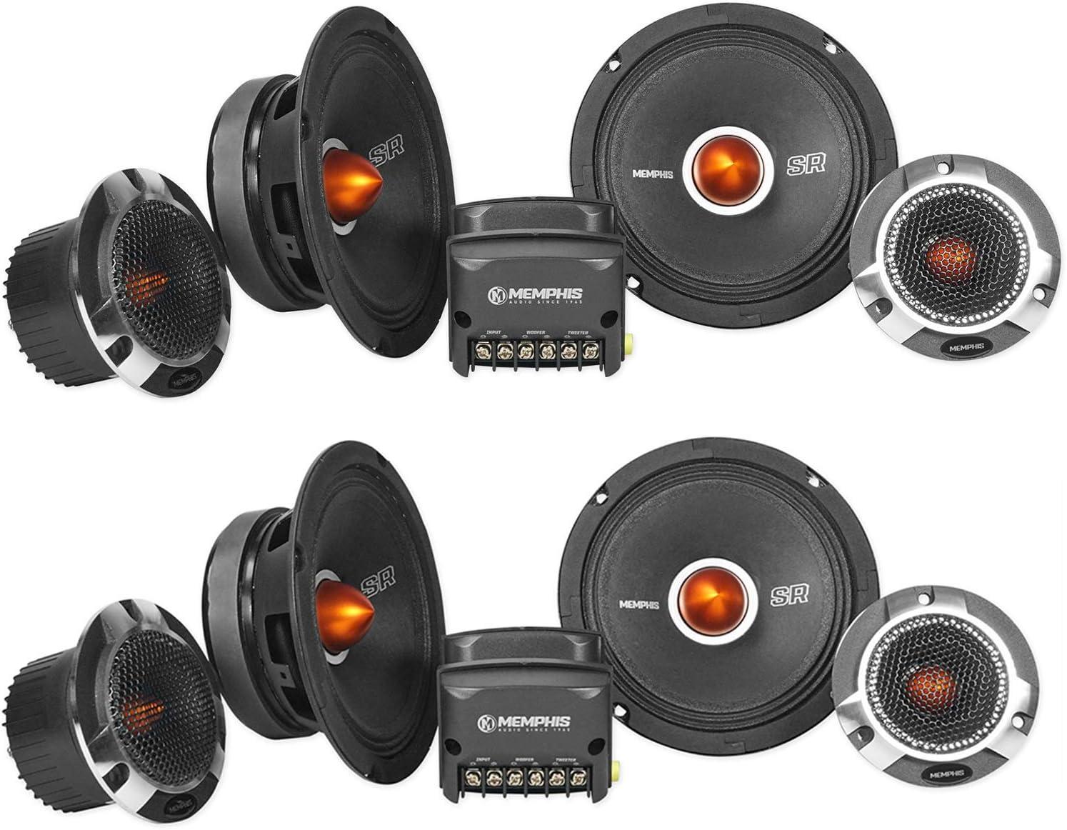 """Memphis Audio SRXP62C SRX Pro 6.5"""" Competition Component Car Speakers"""