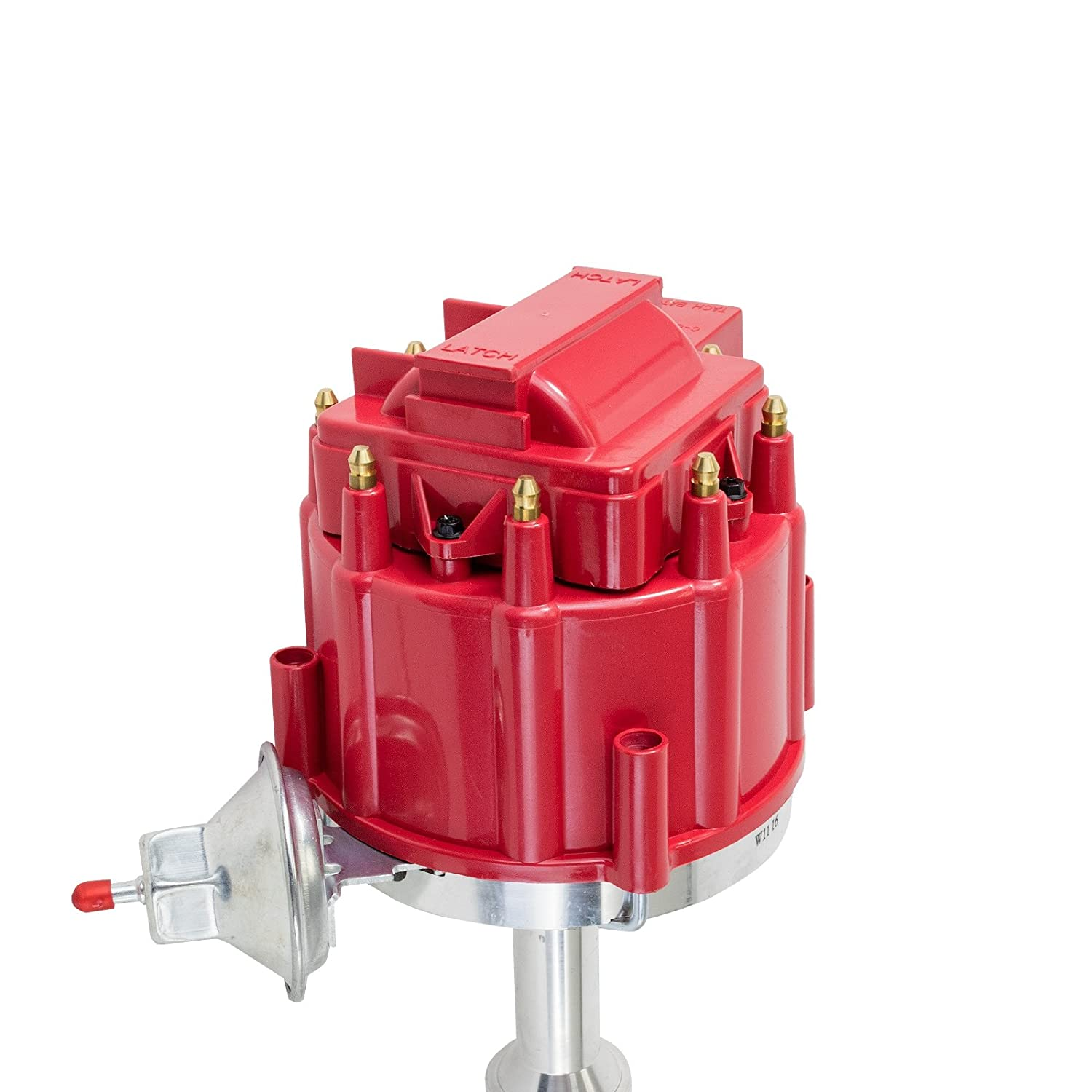A-Team Performance HEI Complete Distributor 65K Coil Compatible With 351C Big Block Ford 351M 400M 429 460 One Wire Installation Red Cap