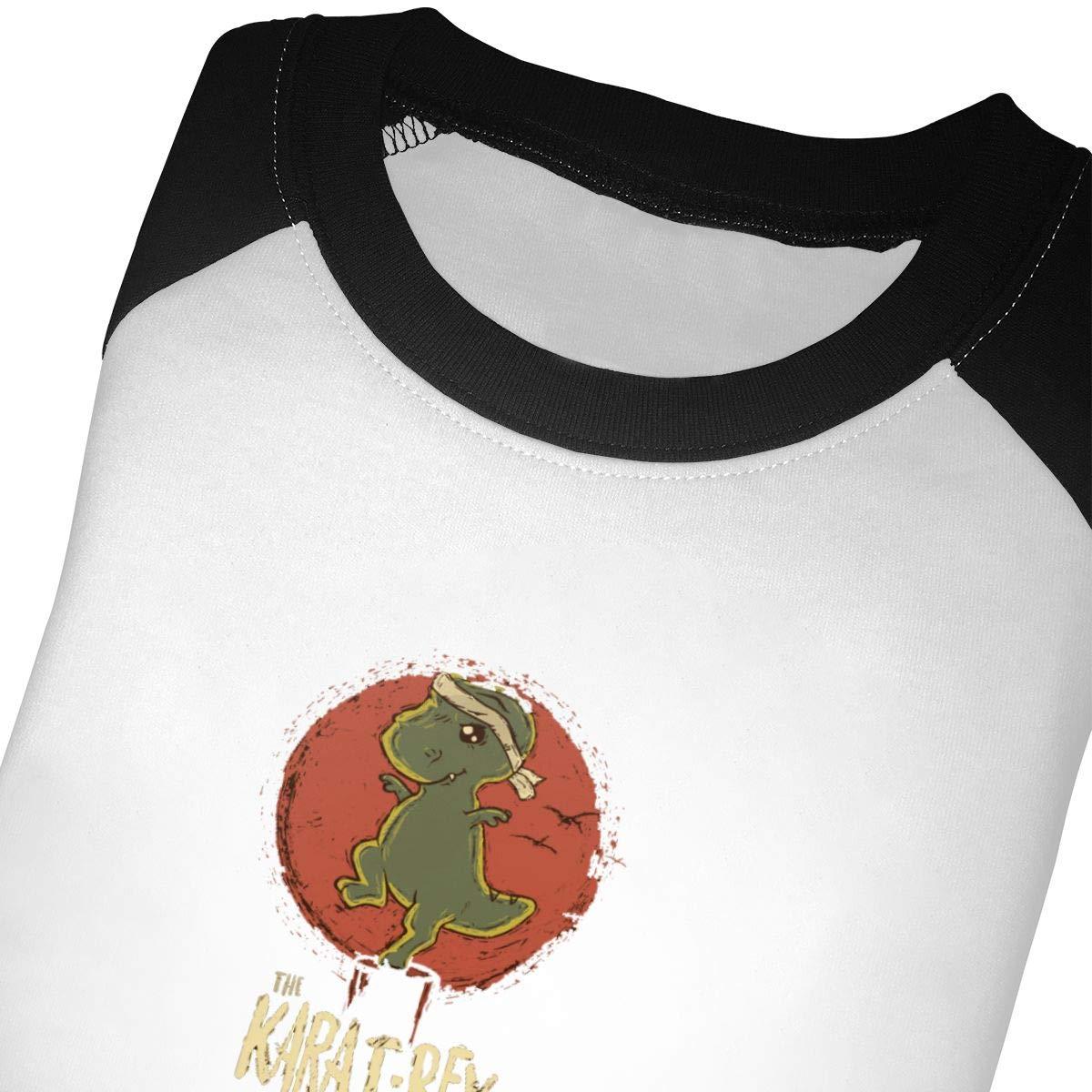 yimo The Karat-Rex Unisex Toddler Baseball Jersey Contrast 3//4 Sleeves Tee