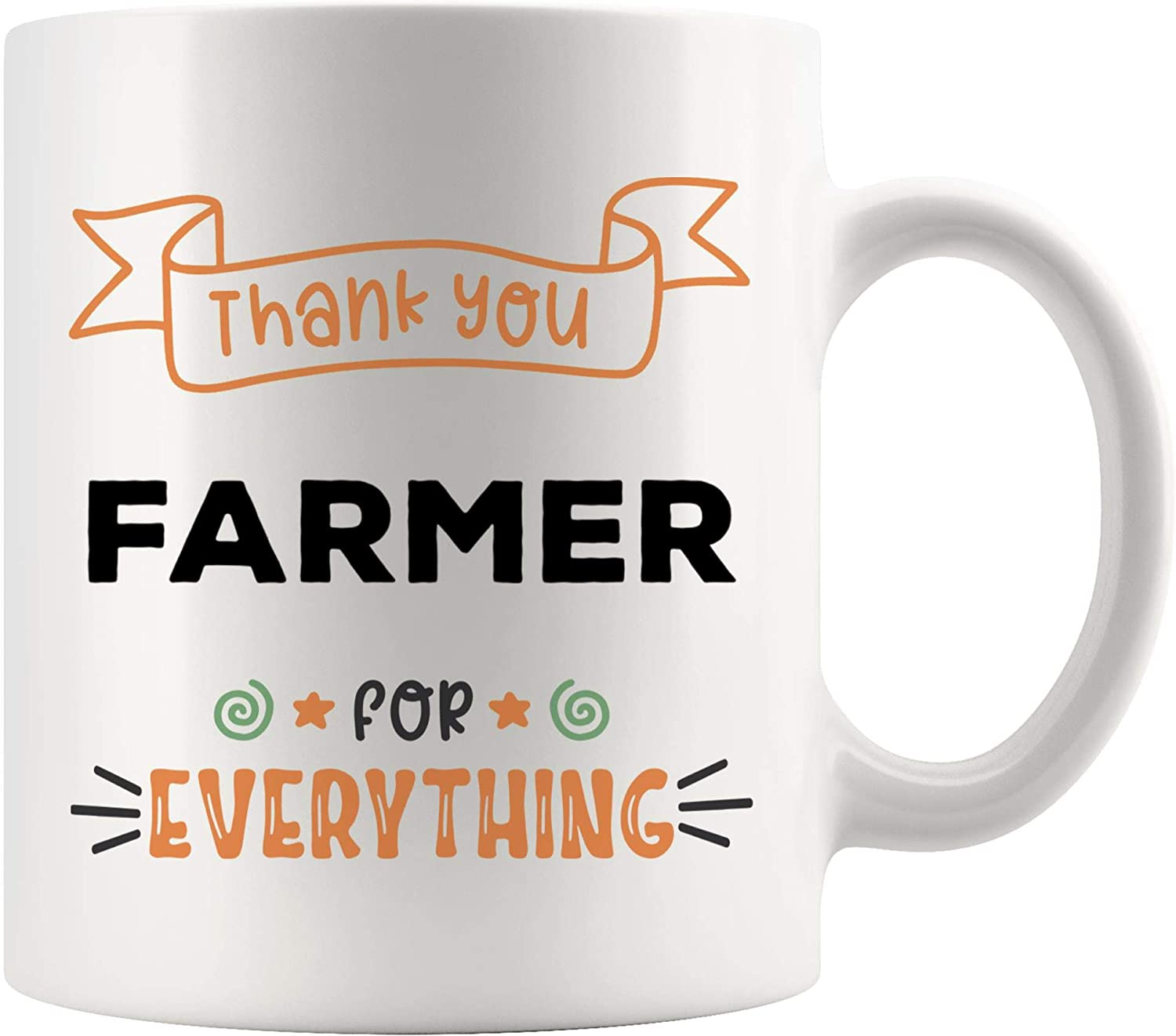 Amazon Com Thank You Everything Farmer Mug Best Coffee Cup Gift Thanksgiving Appreciation Gifts Ideas Best Dairy Farmers Market Funny Gift World Mom Dad Future Most Awesome Kitchen Dining