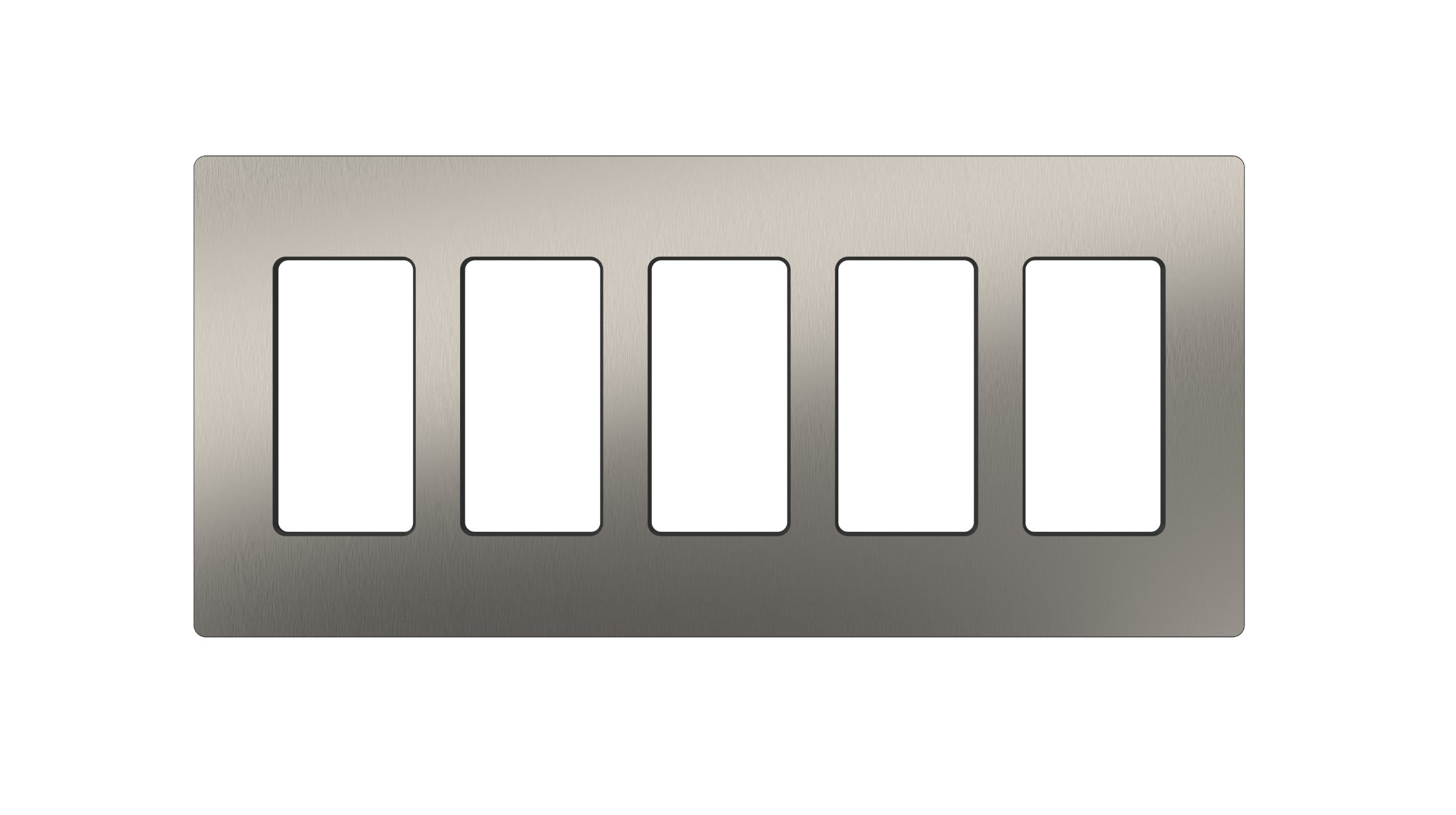 Lutron CW-5-SS Claro 5-Gang Wallplate, Stainless Steel by Lutron (Image #1)