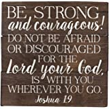 Joshua 1 9 Be Strong and Courageous Bible Verse Art