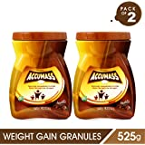 Accumass Weight Gainer Powder 525Gm Chocolate Flavour (Pack Of 2)