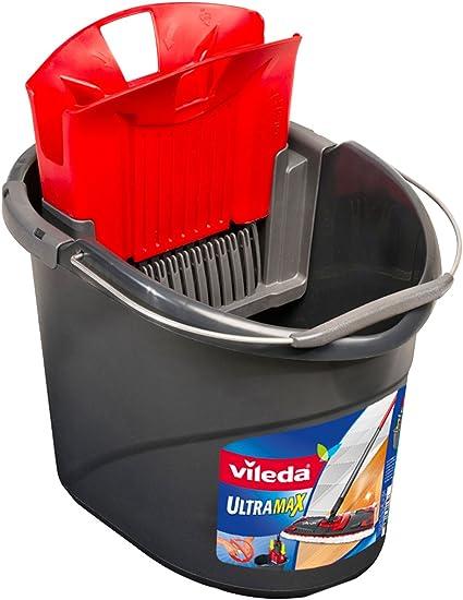 color rojo 2Work CNT01623 15 l Cubo de fregar con escurridor