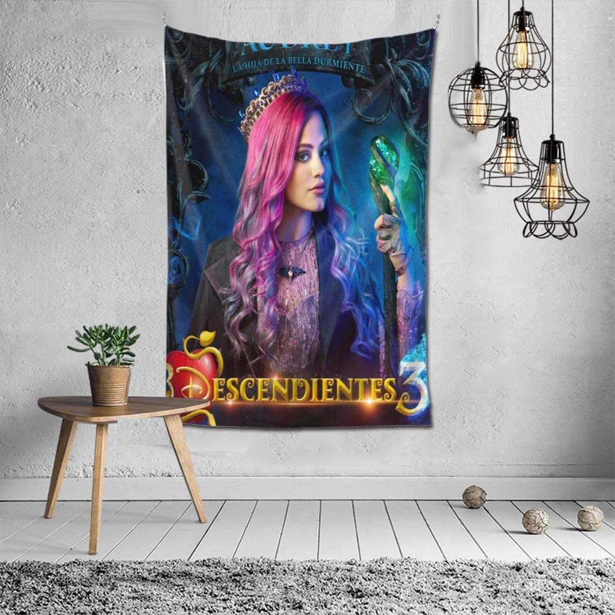 GuanRkon Descendants 3 Audrey Fashion Tapestry Men Women Wall Hanging Luxury Tapestries Home Decoration Gift One Size