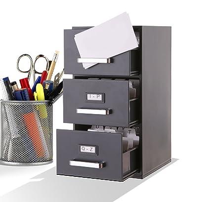Mini archivador de 22,86 cm para escritorio, para archivar tarjetas de visita de