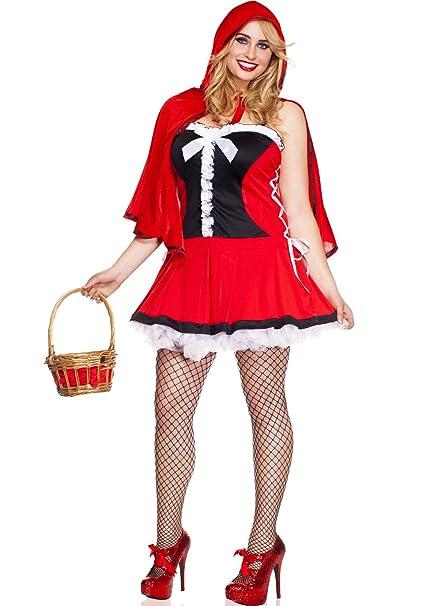 558dc9754179 MUSICLEGS Costume Cappuccetto Beauty - Music Legs.Costumi e travestimenti  per Taglie Comode  XL e XXL  Amazon.it  Abbigliamento