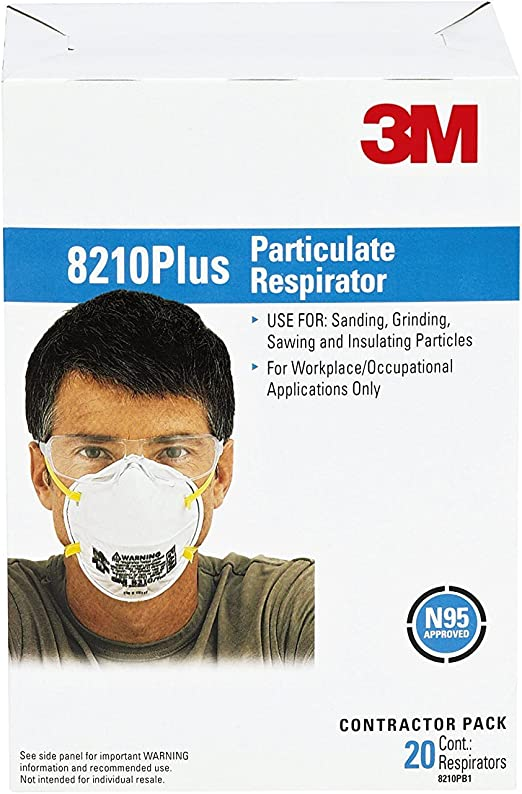 Plus Particulate N95 8210 3m Disposable 5 Respirator Standard