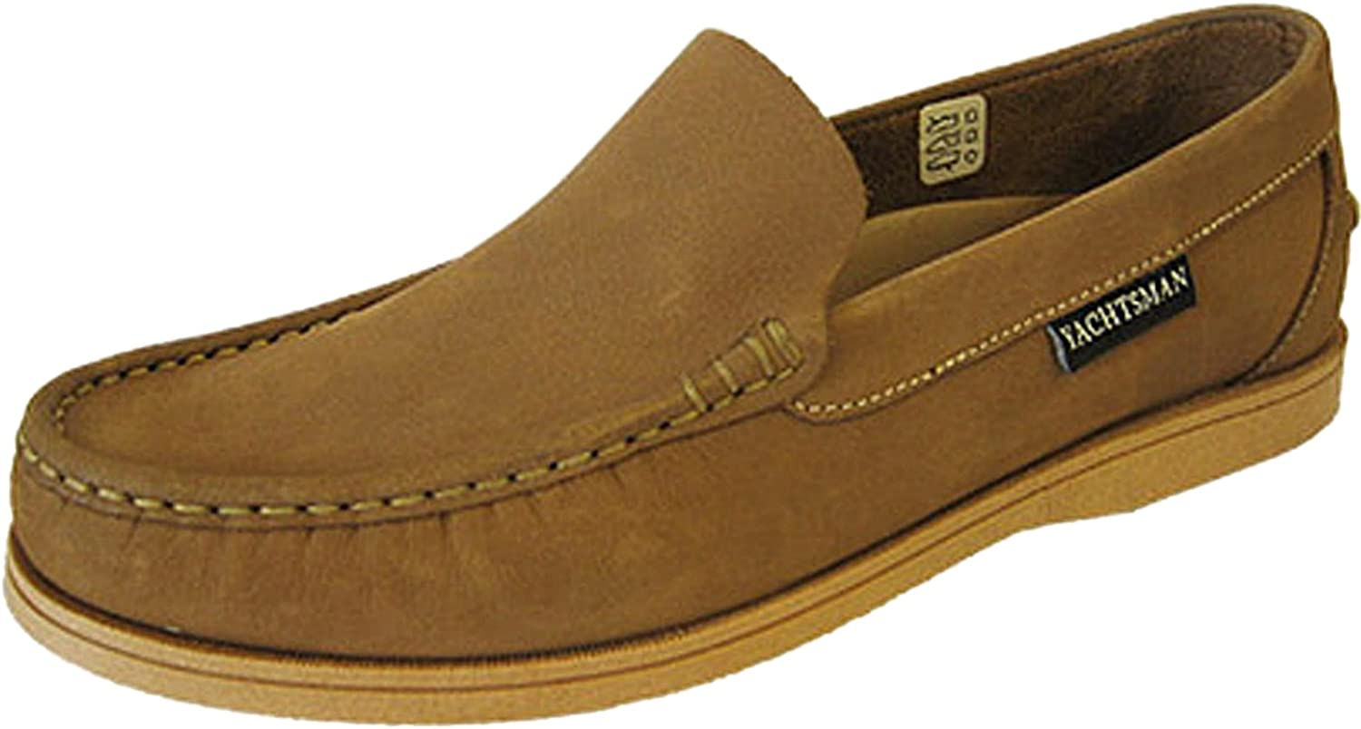 Mens Leather YACHTSMAN Smart Boat Loafers Formal Moccasin Sailing Deck Shoes