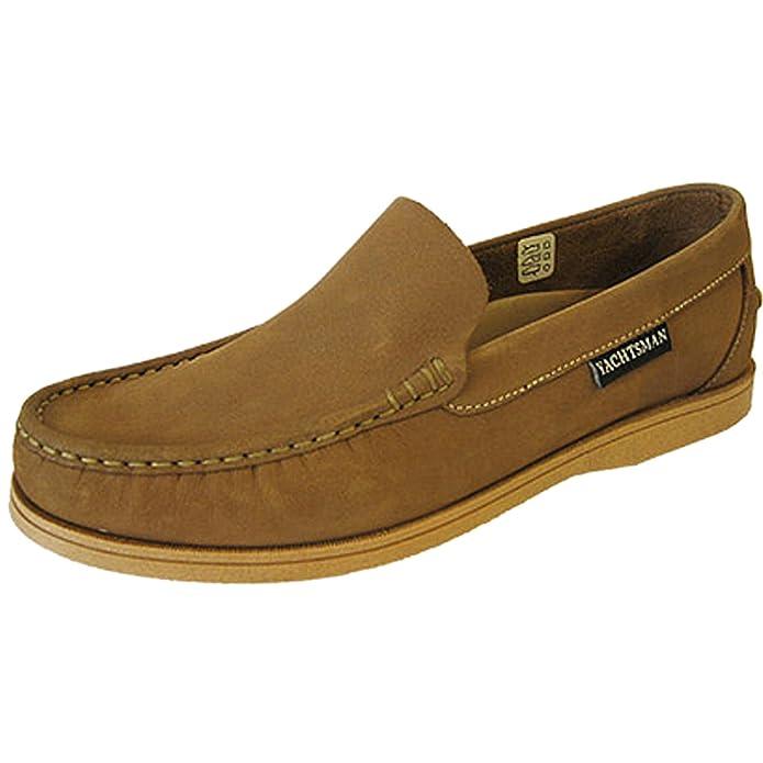 Ubershoes - Mocasines para hombre, color marrón, talla 12 UK