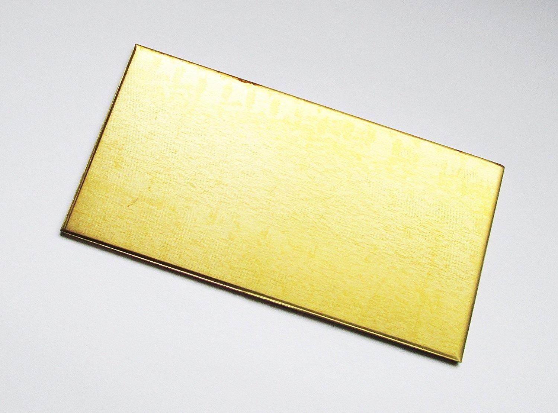 0.7mm Brass Sheet 100mm x 100mm TM Metalworks