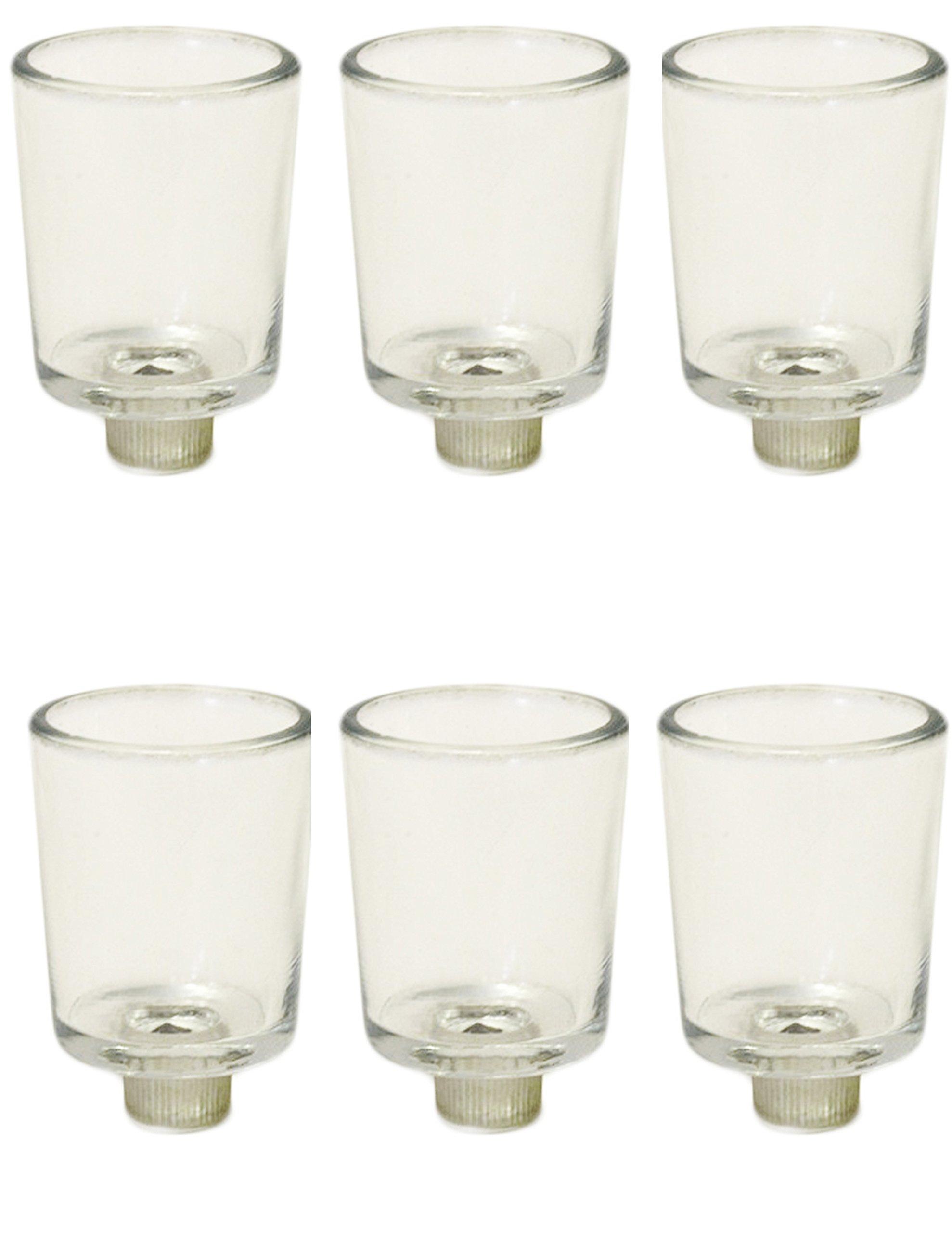IMA BRASS 12pcs Clear Glass Votive Tea Light Holder with 7/8 in peg. by IMA BRASS