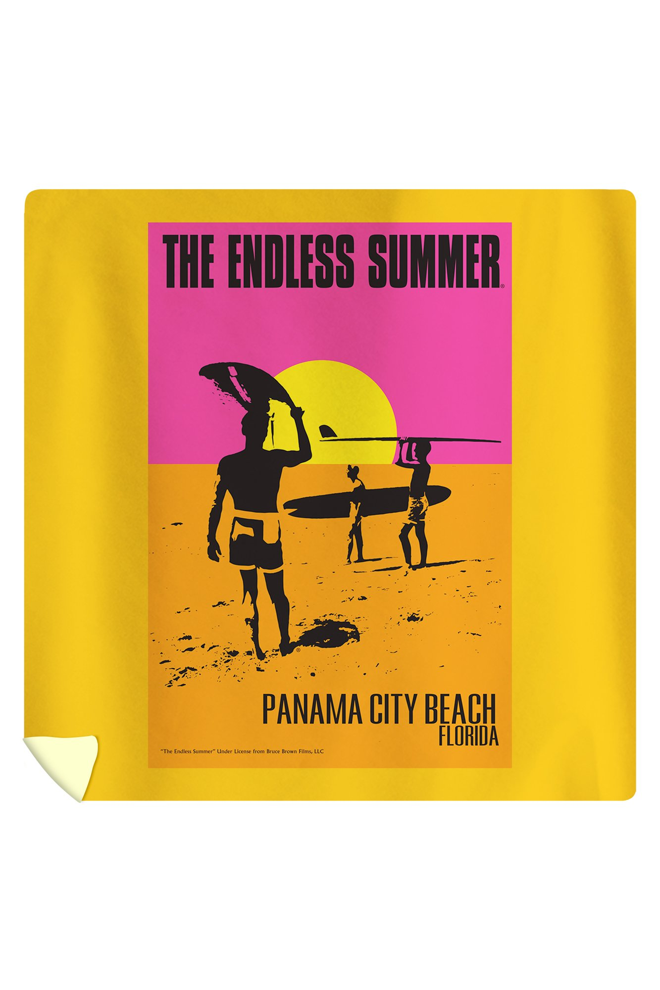 Panama City Beach, Florida - The Endless Summer Movie Poster (88x88 Queen Microfiber Duvet Cover)