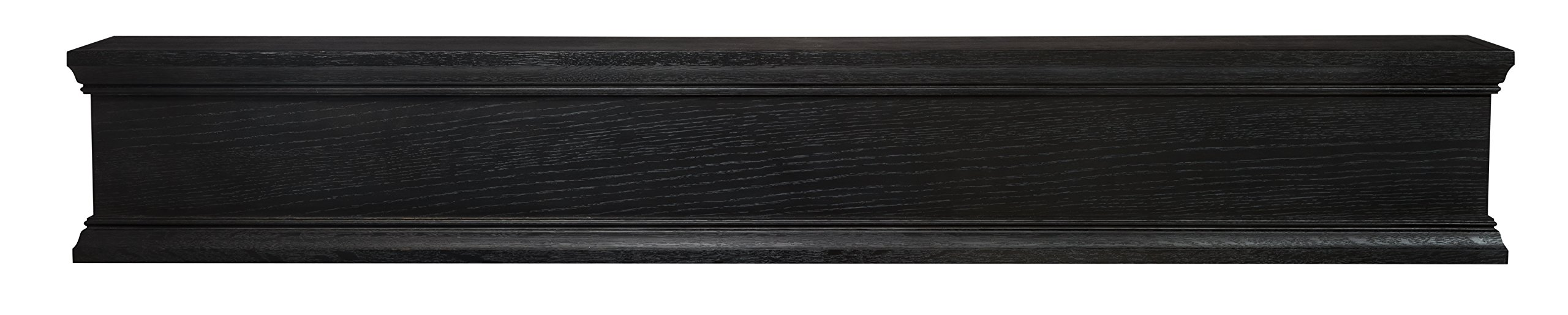 Pearl Mantels 426-72-18 Winchester Mantel Shelf, 72-Inch, Ebony Wash Finish