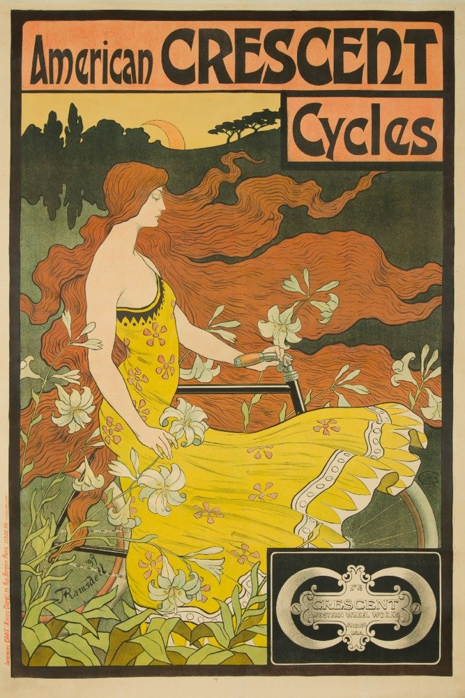 数量限定セール  American Crescentサイクルヴィンテージポスター(アーティスト: Print RamsdellフランスC Art。1901 11 x 14 Matted Art 18 Print LANT-60547-11x14M B017Z76RB6 12 x 18 Art Print 12 x 18 Art Print, いりえフルーツ:64388b7a --- mcrisartesanato.com.br