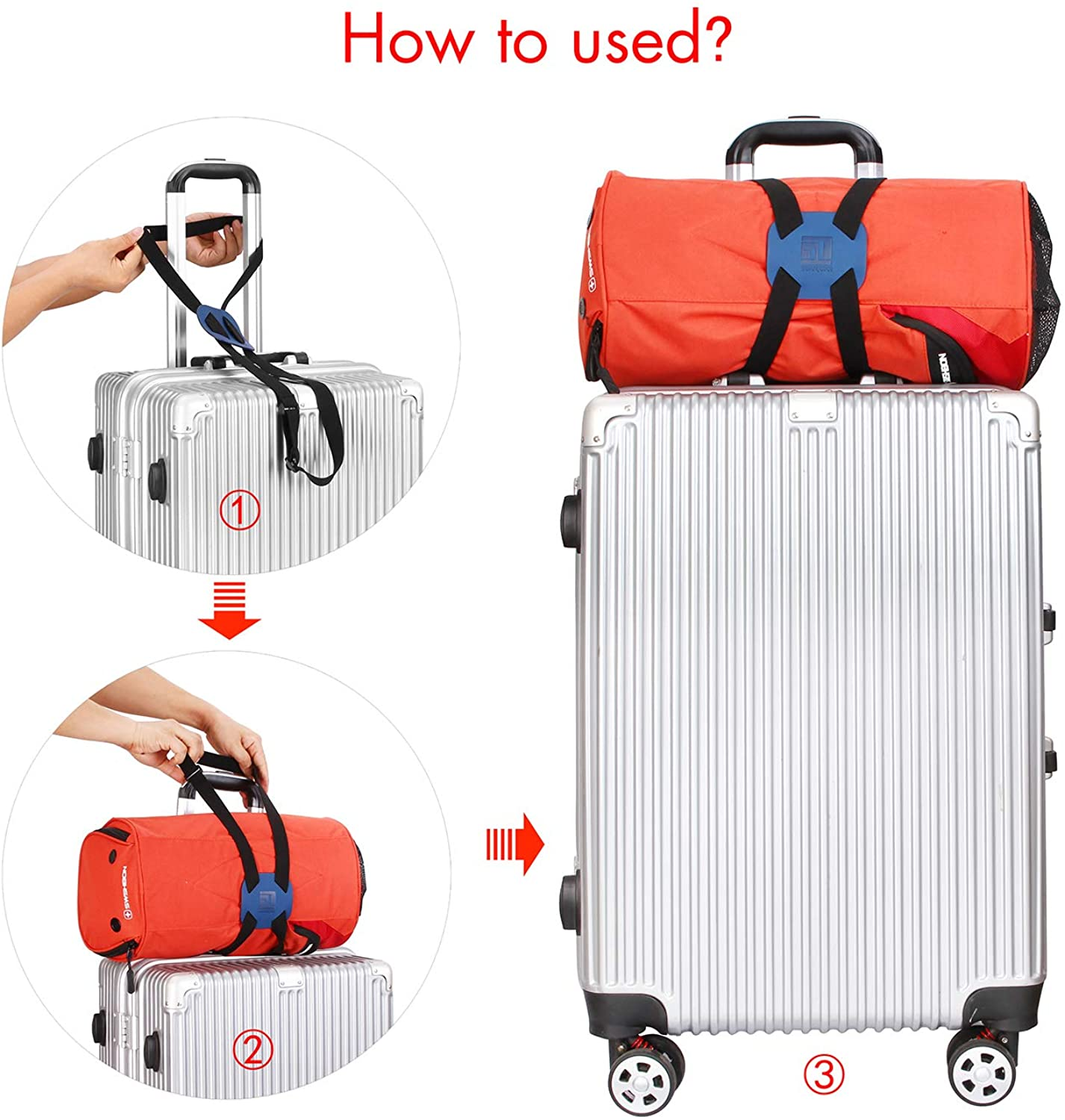 RED//BLUE ELASTIC BUNGEE ROPE Hook 8kg Strong Travel Luggage Suitcase Bag Camping