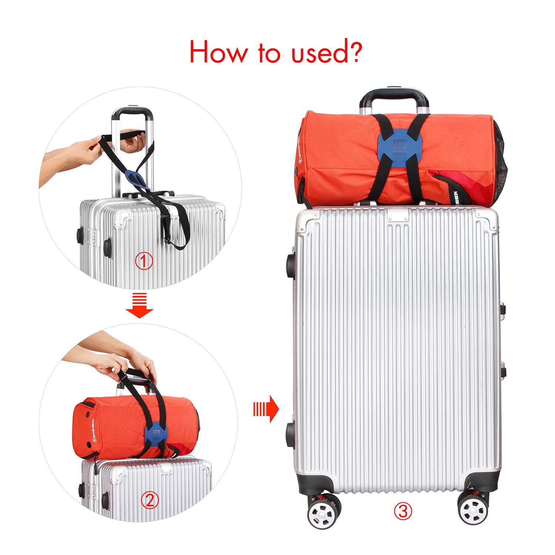 Bag Bungee Luggage Straps Suitcase Adjustable Belt Blue