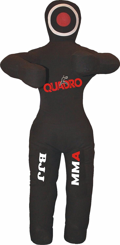 Quadro MMA Standing位置GrapplingダミーJiu Jitsu Punching Bag – Unfilled B076VX1XS2 Canvas Black 70 inches (6 ft)