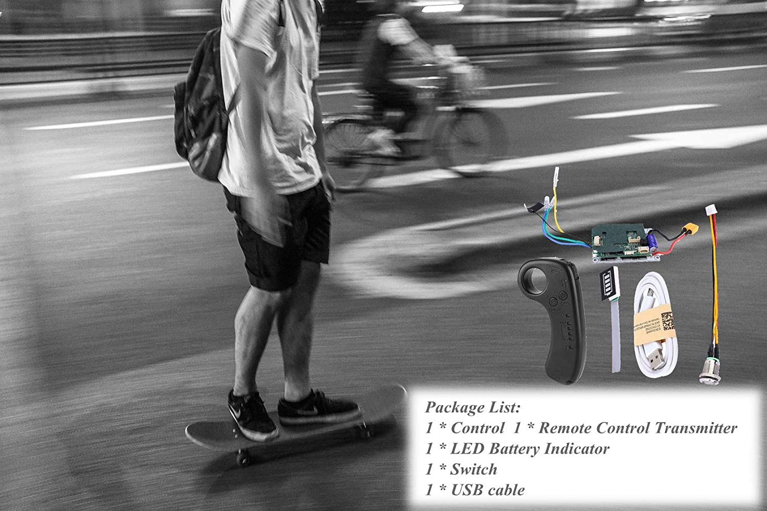 Nimbus 24V//36V Single//Dual Drive ESC for Belt Motor /& Upgrade 2.4G Remote Control with Aluminum Heat Sink and Metal Push Button Switch for DIY Electric Skateboard Longboard