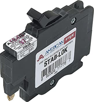 FEDERAL PACIFIC Circuit Breaker FPE THIN 1//2 Space STAB LOK 1 Pole 15 amp
