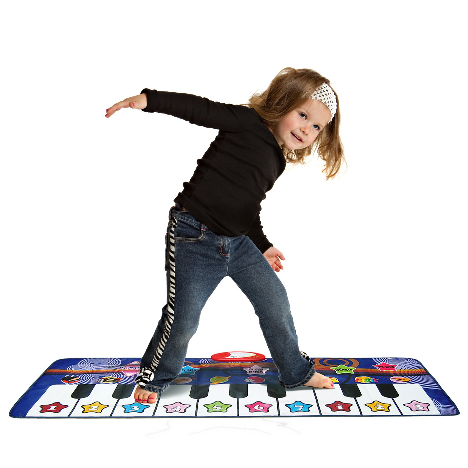 Piano Dance Mat For Kids 10 Selectable Sounds Play