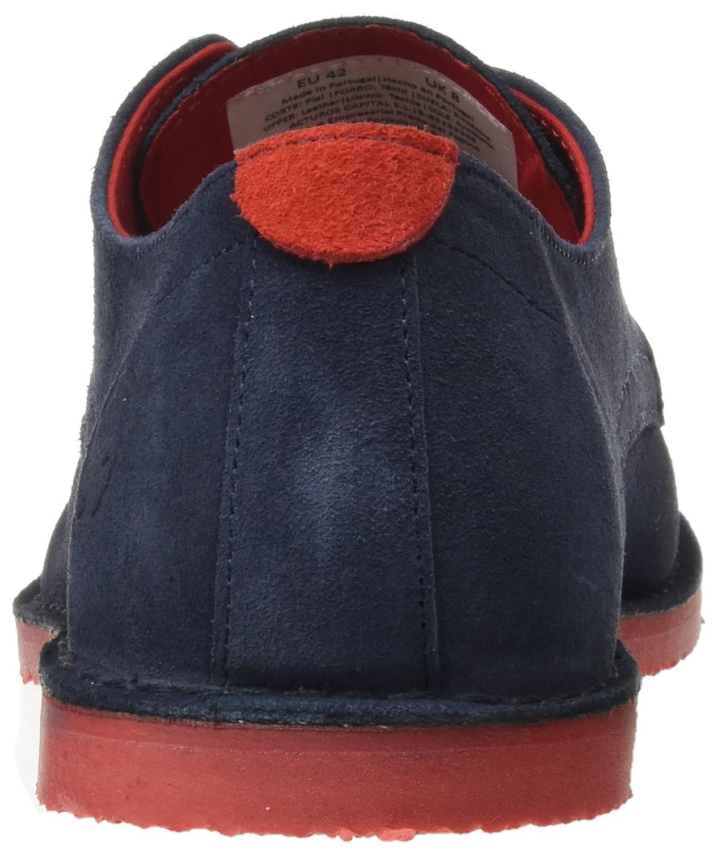 El Ganso Bajo Guerrero Ante, Zapatos con Cordones Hombre, Azul (Marino), 45 EU: Amazon.es: Zapatos y complementos