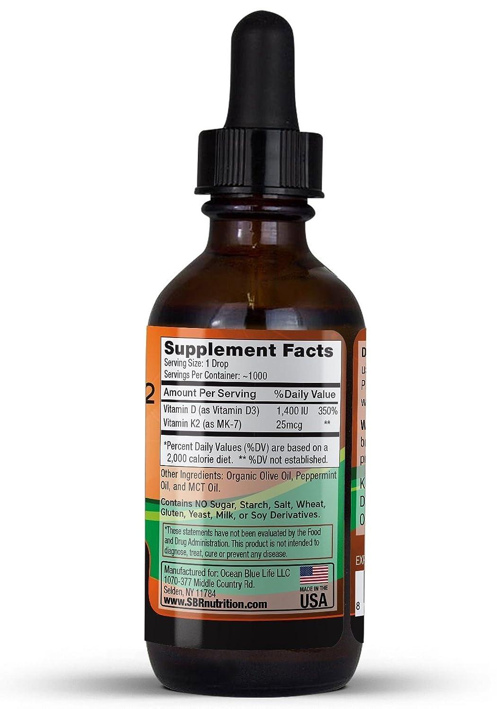 SBR Nutrition ABSORCIÓN MÁXIMA, gotas sublinguales con aceite MCT Y vitamina D3 + K2 (MK7): Amazon.es: Salud y cuidado personal