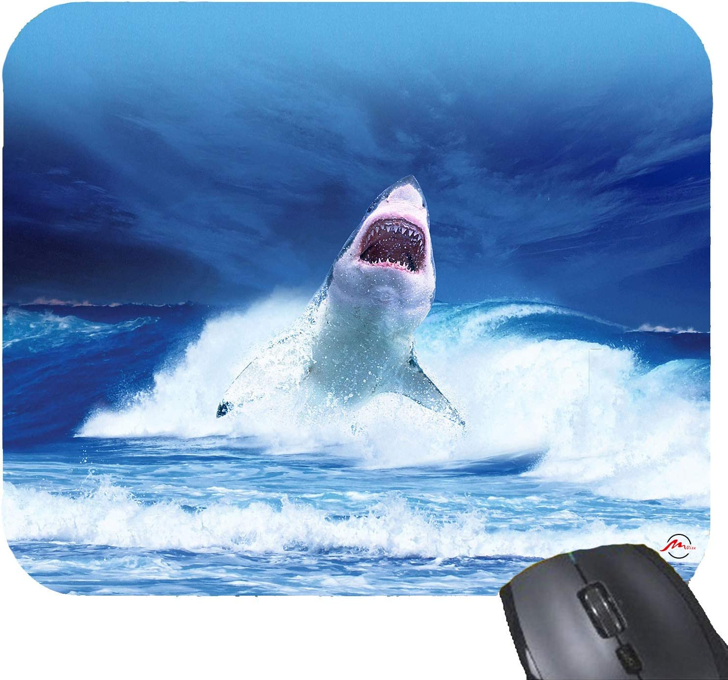 ZMvise Shark Fish Mouse Pad Rubber Gaming Mousepad 9x7.5 Inches