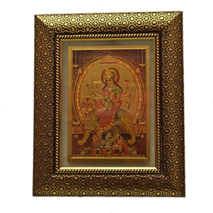 Buy Odishabazaar Durga MATA Frame 11 x 9 in Frame - 24CT Gold Plated ...