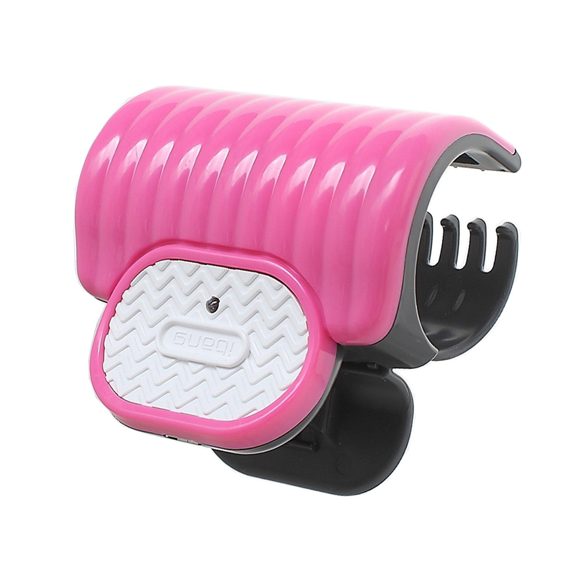 iBang Portable Instant Heat Hot Roller Clip - Natural Wave Hair Bang Curler for Travel Work (Rose Pink)