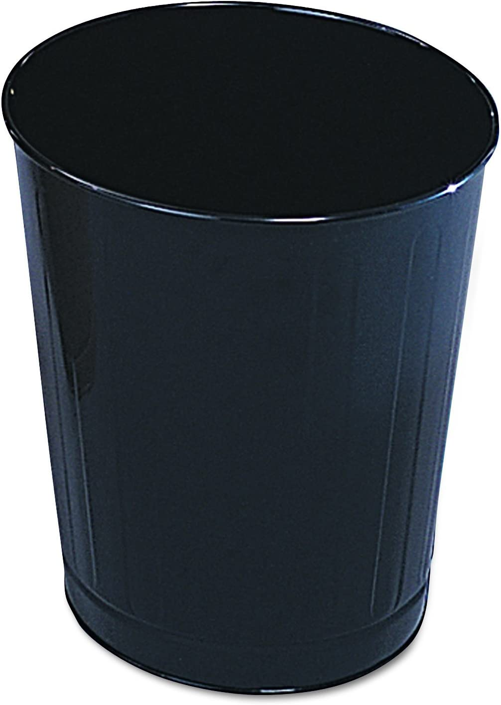 Rubbermaid Commercial WB26BK Fire-Safe Wastebasket, Round, Steel, 6 1/2 gal, Black