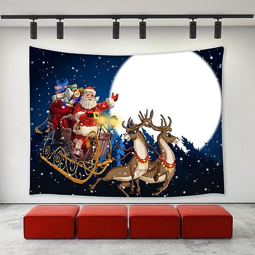 Christmas reindeer Tapestry Wall Hanging for Living Room Bedroom Dorm Decor