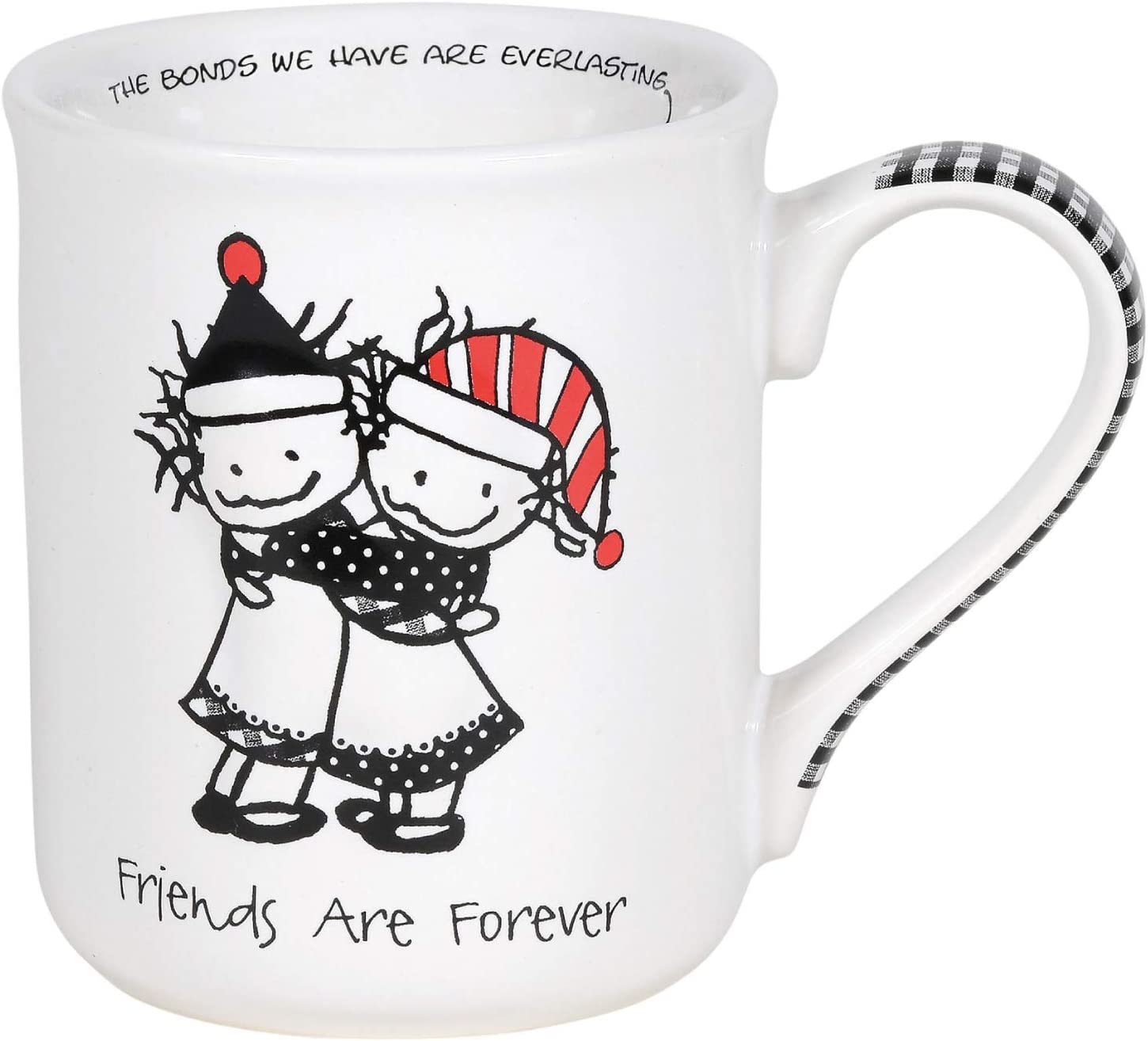 Enesco Children of the Inner Light Holiday Friends are Forever Coffee Mug, 16 Ounce, Multicolor
