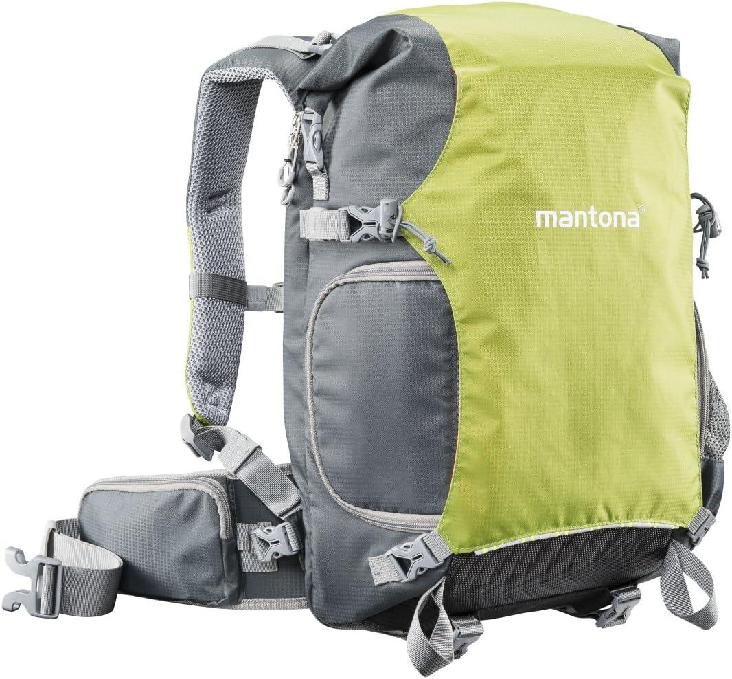 Mantona ElementsPro 30 Outdoor Sac /à dos incl. housse anti-pluie, pour cam/éra DSLR ou CSC noir