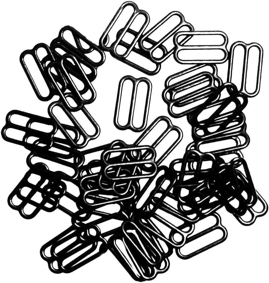 chiwanji 200pcs 20mm Metal Bra Lingerie Slider Strap Clasps pour Bra Strap 2 Styles