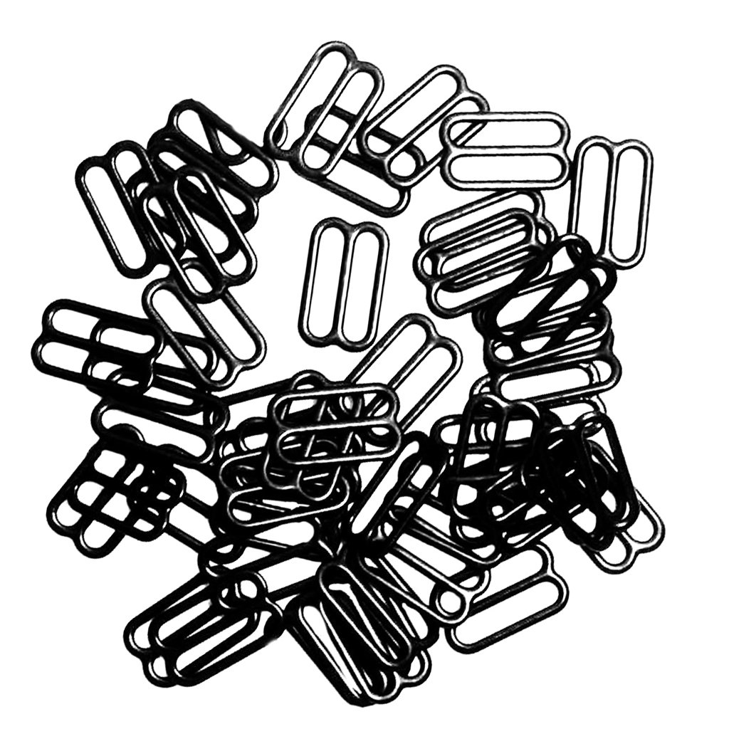 Black MagiDeal 9 F/örmigen Dessous Einstellbar N/ähen BH Ringe Schnallen 14mm 100pcs Silber Dessous Einstellbar N/ähen BH Ringe Schnallen 10mm Ring